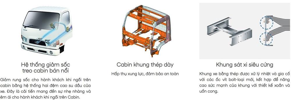 khung gam xe tai hyundai mighty 110S thanh cong