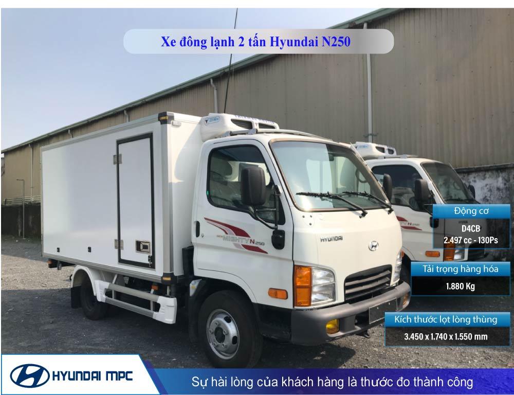 xe tải n250 đông lạnh