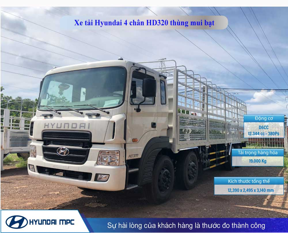 xe tải hyundai hd320 mui bạt