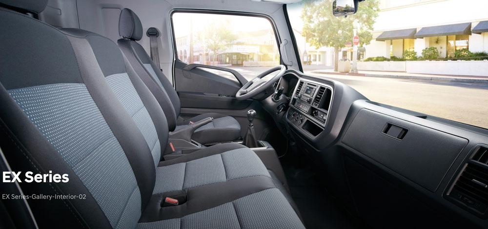nội thất xe tải Mighty Ex 8 tấn